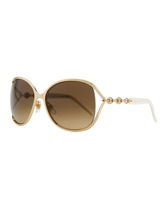 Gucci Metal Sunglasses with Chain
