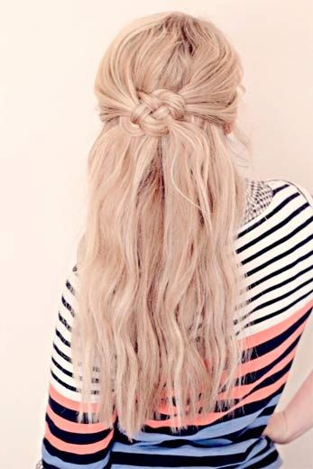 Half Up Bohemian Hairstyle