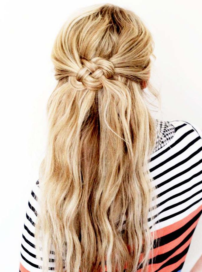 Half Up Braided Hairstyle/Pinterest