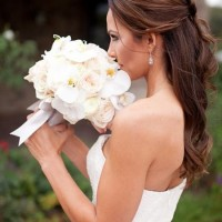Half Updo Bridesmaid Hairstyle for Long Hair
