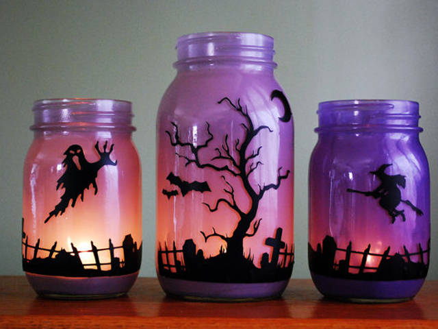 Decorate A Jar Fair 10 Ideas To Diy Halloween Jar Decorations  Pretty Designs Design Ideas