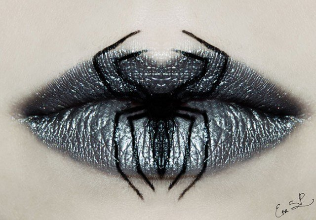 Whimsical Lip Makeup Ideas for Halloween by By Eva Senín Pernas ...