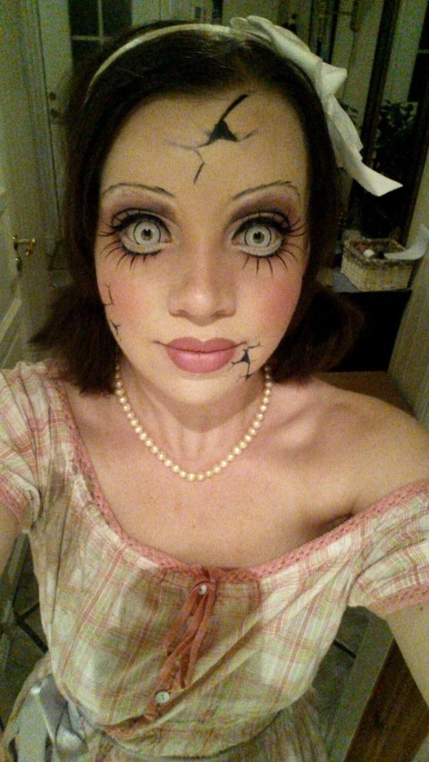 Horrible Doll Makeup Look