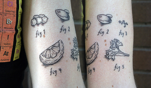 Interesting Ingredients Tattoos