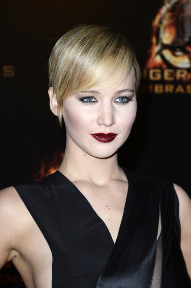 Jennifer Lawrence Sleek Pixie Haircut