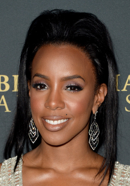 Kelly Rowland Teased Hair