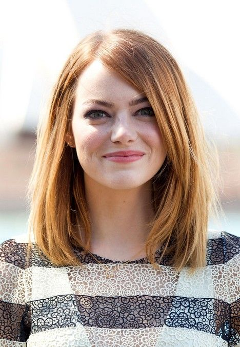 Long Bob Haircut - Emma Stone Hairstyles