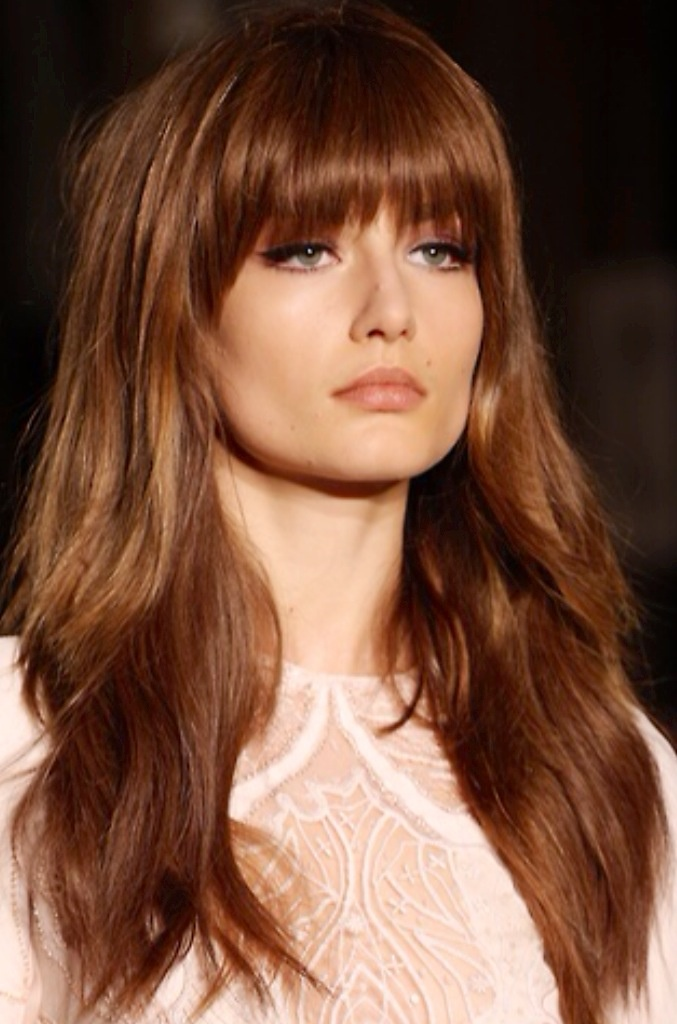 12 Pretty Long Layered Hairstyles With Bangs Pretty Designs
