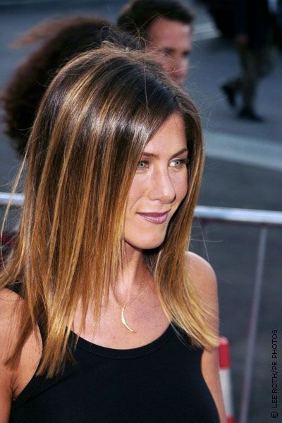 Long Straight Ombre Hair - Jennifer Aniston Hairstyles