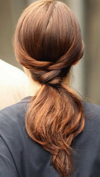 Loose Braided Ponytail