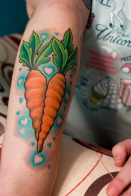 Lovely Carrot Tattoos