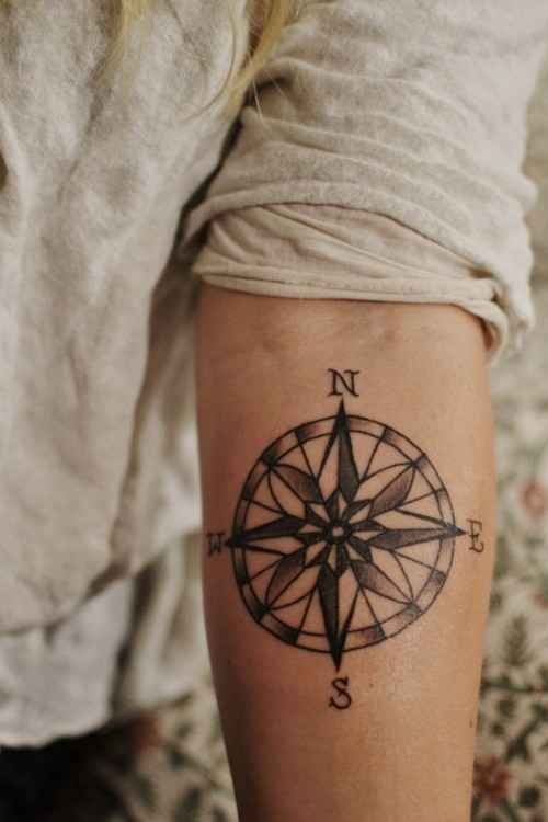 15 compass tattoo designs for both men and women pretty designs. Black Bedroom Furniture Sets. Home Design Ideas