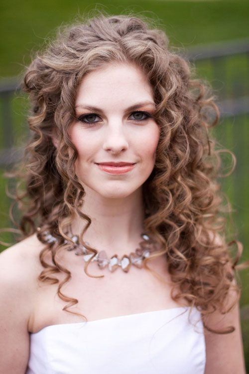 Lovely Curly Wedding Hairstyle
