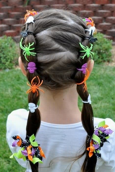 Lovely Halloween Hairstyle for Little Girls
