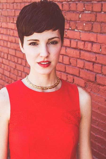 Lovely Pixie Haircut with Bangs