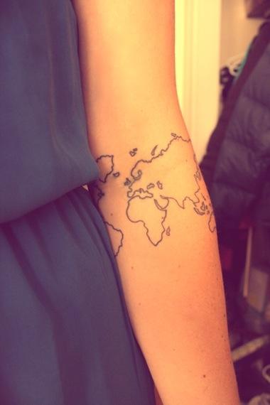 Map Tattoo on Hand