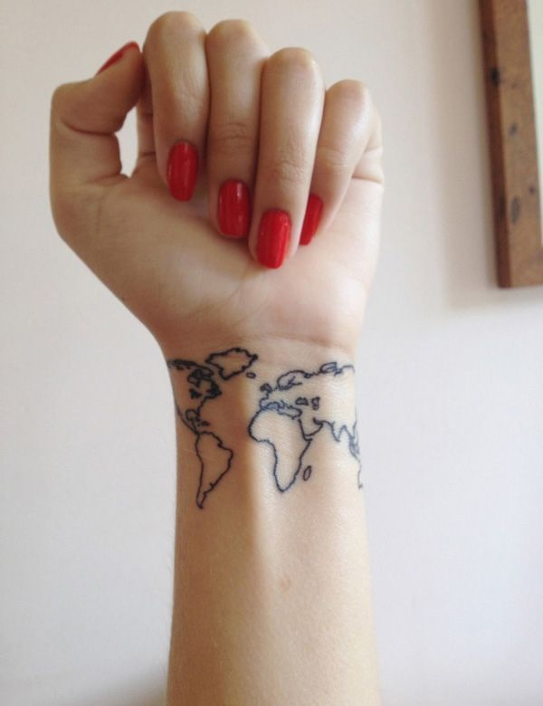 Map Tattoo on Wrist