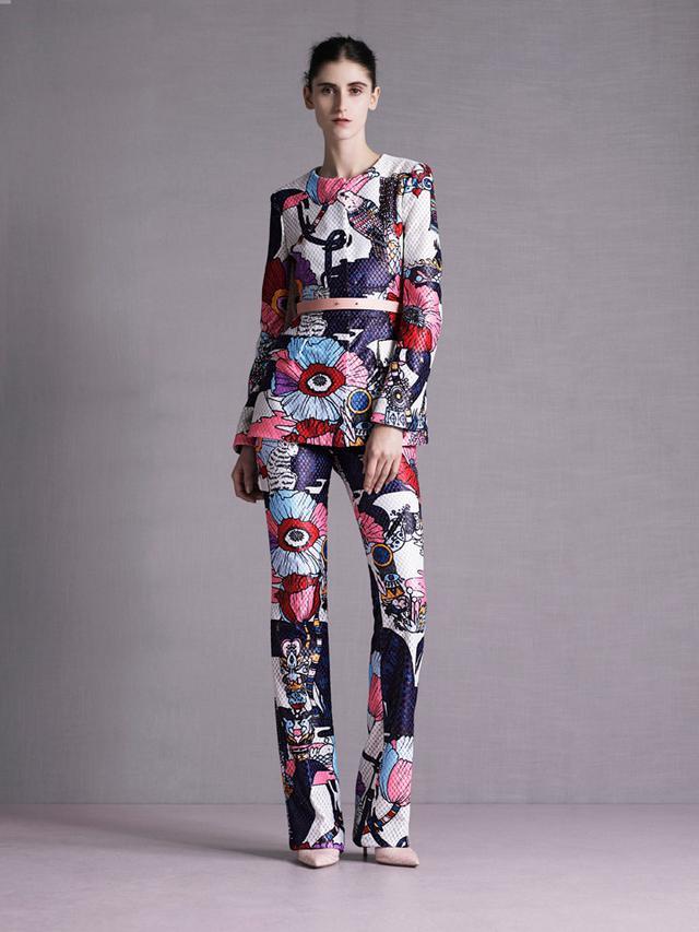 Mary Katrantzou Floral Pantsuit