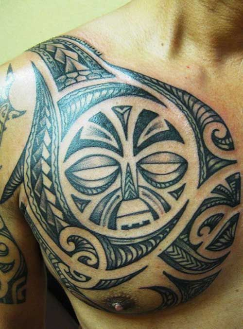 Masculine Chest Tattoo