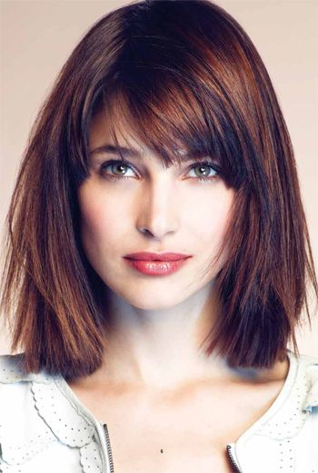13 Fabulous Medium Hairstyles With Bangs - Pretty Designs