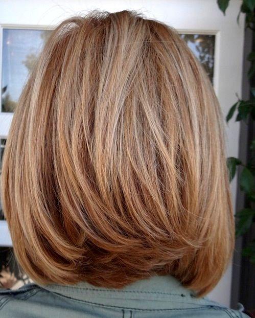 Medium Layered Bob Hairstyle