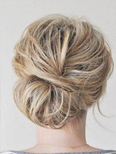 Messy Bun Hairstyle for Medium Hair
