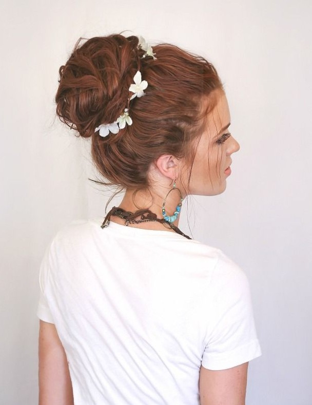 20 gorgeous messy wedding updos pretty designs messy bun updo for wedding pmusecretfo Images