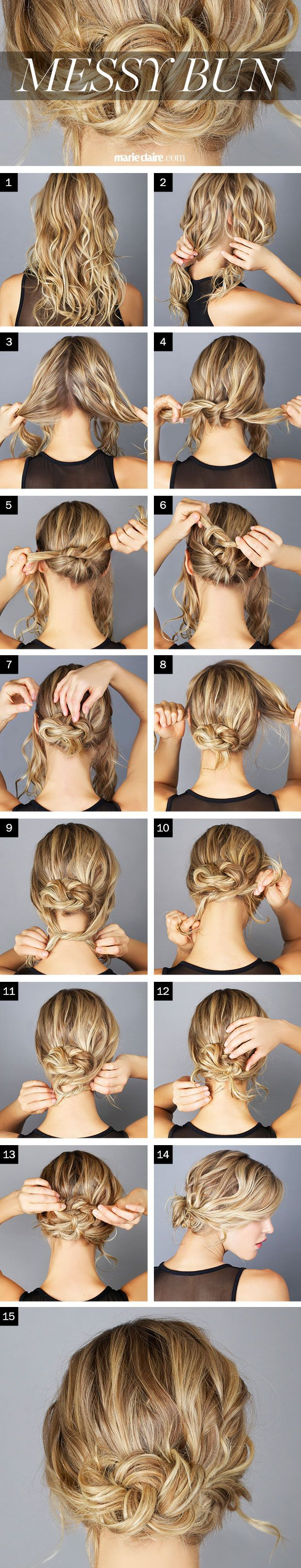 Messy Bun for Curls