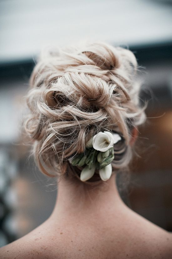 Messy Curly Wedding Updo Hairstyle