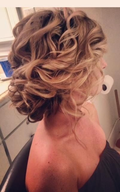 Messy Updo for Wedding