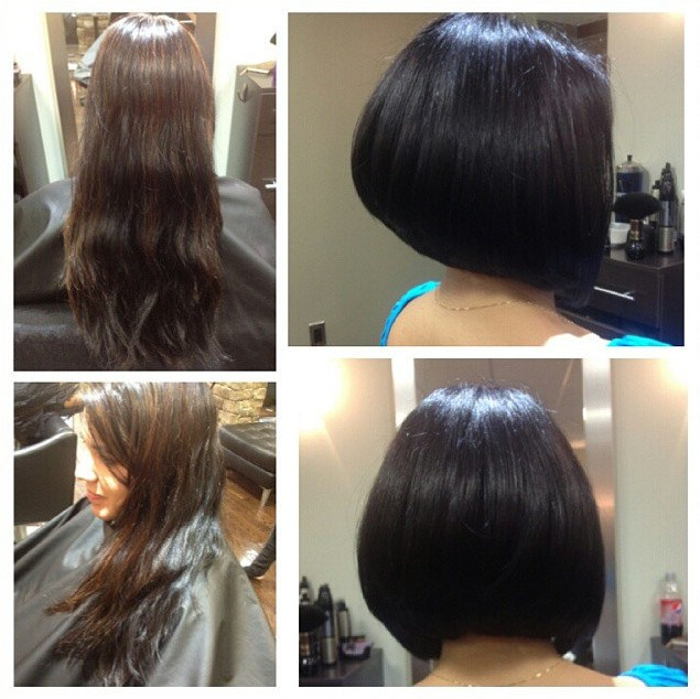 New Short Dark Bob Hairstyle for Women