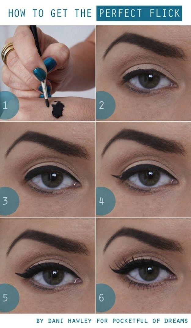 Как накрасить стрелки пошаговое