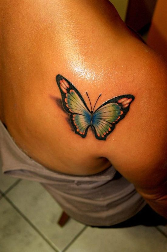 828fbdcfb 15 Gorgeous Shoulder Butterfly Tattoo Desgns - Pretty Designs