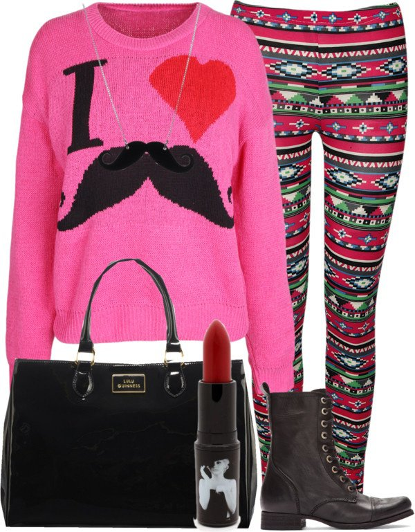 Pink Outfit Idea for Movember
