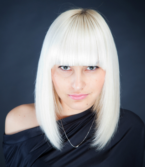 Platinum Straight Haircut for Women