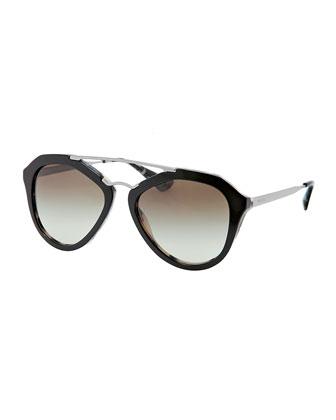 Prada Geometric Havana Sunglasses