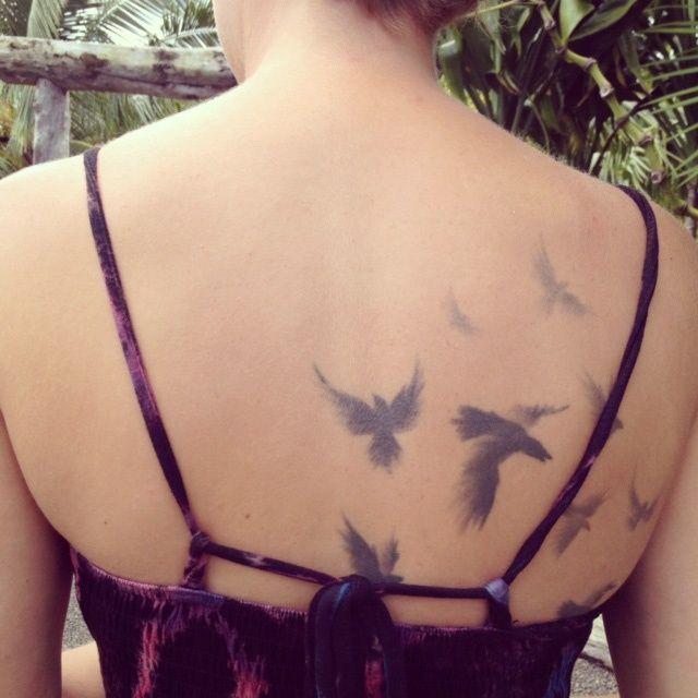 12 Stylsih Bird Tattoo Designs on Back - Pretty Designs