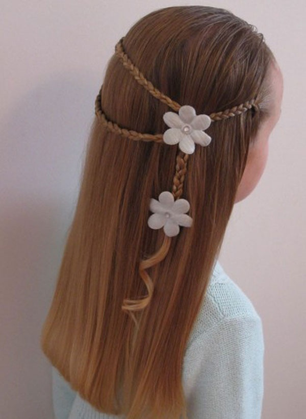 Pretty Braided Hairstyle for Kids