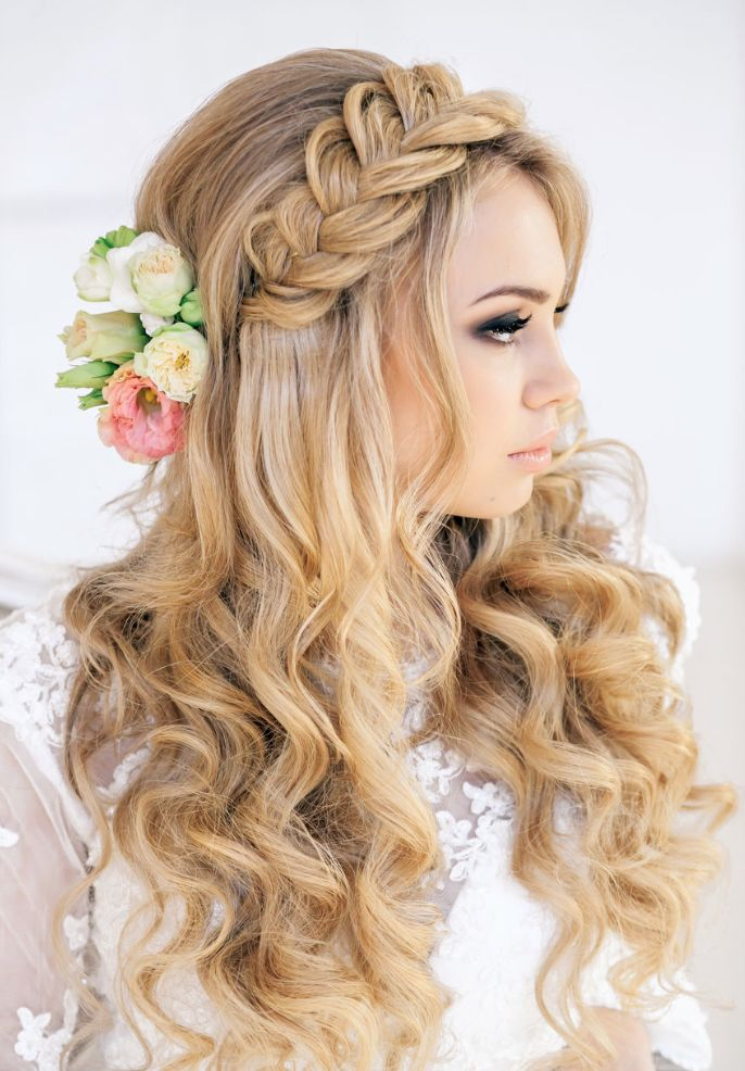 Pretty Bridesmaid Hairstyle With Braids for Long Hair