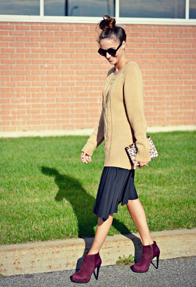 Pretty Fall Outfit Idea with Jumpers