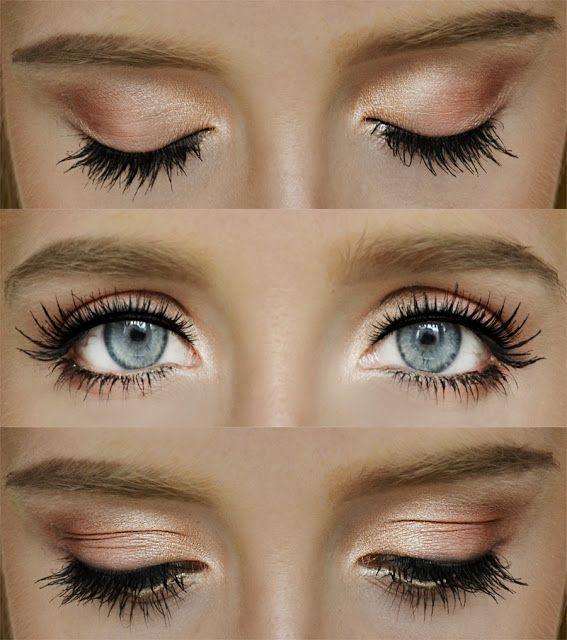 Pretty Gold and Peach Eyes