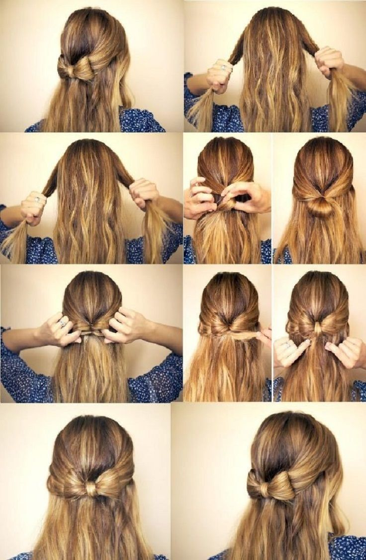 Pretty Half Up Half Down Bow Hairstyle Tutorial