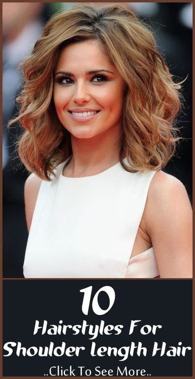 Pretty Shoulder Length Layered Curly Hairstyle