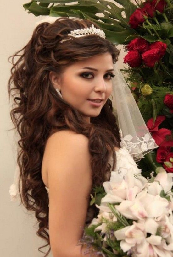 Pretty Wedding Hairstyle for Long Hair/Pinterest
