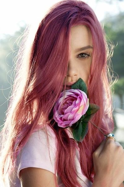 Pretty Wine-hued Hairstyle