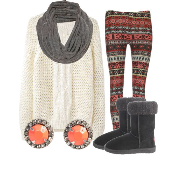 Printed Leggings and Boots