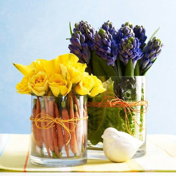 Purple Flowers and Yellow Flowers for Decoration