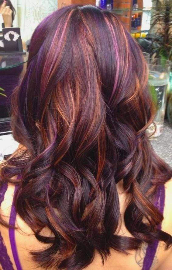 Purple and Gold Colored Hairstyle