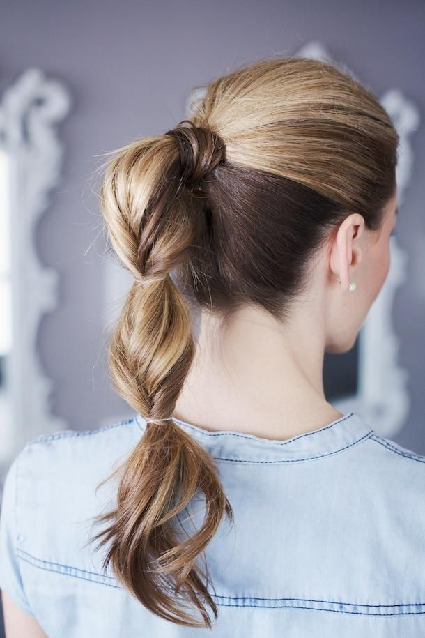 Quick Ponytail for Young Woman