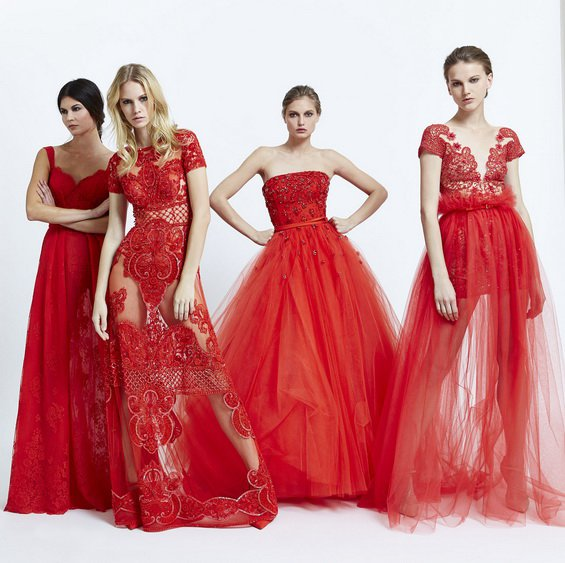 Romantic Red Dresses by Zuhair Murad